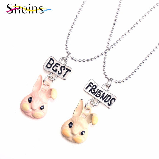 Best Friend Couple Peter Rabbit Necklace