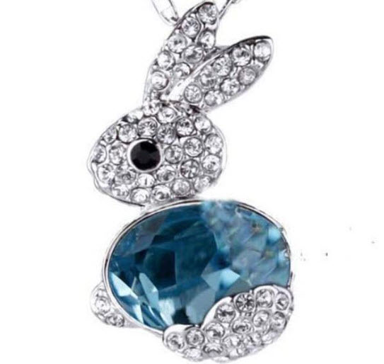 Bunny Necklace Beautiful Crystal Pendant